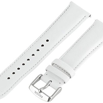 Fossil Women's S201027 20mm Leather Watch Strap - White