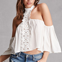 Crochet Mock Neck Top