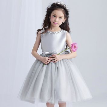 Summer Upscale Girls Dress 3-14Y Children's Clothing Party Princess Baby Kids Girls Wedding Dresses Prom Dress Teen Costume