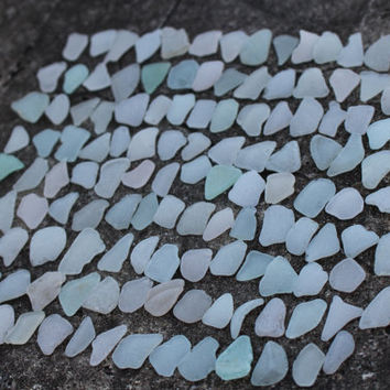 Sea Glass Escort Cards Wedding Guest Book 135 pcs
