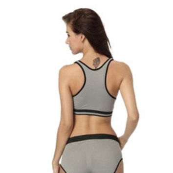 Seamless Racerback Fitness Sports Yoga Push Up Bra Vest Tops [8384287623]