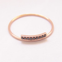 Pave Diamond Ring - Black Diamond Ring - Wedding Band - 14k Rose Gold