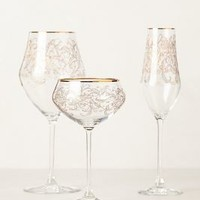 Etched Fern Glassware by Anthropologie