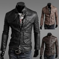 Winter Plus Size Men With Pocket Hot Sale Jacket [6528920323]