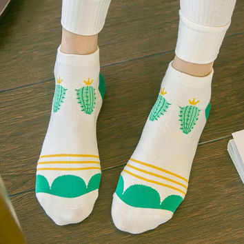 Womens Cactus Socks Winter Autumn Gift-19