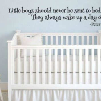 Peter Pan Inspired Little Boys Always Wake Up A Day Older Vinyl Wall Decal Sticker