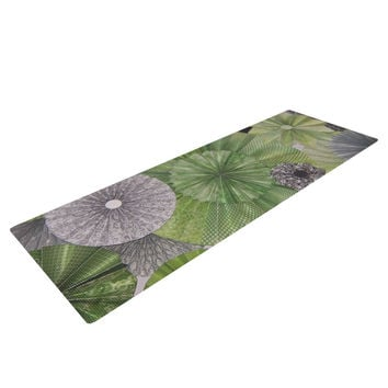 "Heidi Jennings ""Serenity"" Green Grey Yoga Mat"