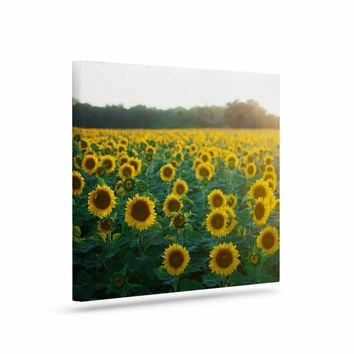 "Chelsea Victoria ""Sunflower Fields"" Floral Photography Canvas Art"