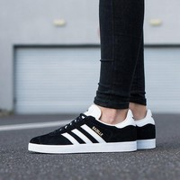Best Online Adidas Originals Wmns Gazelle OG  Black/Footwear White/Gold Metallic Sneakers Classic Casual Shoes -  G13265