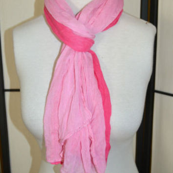 Scarf Pink Ombre Neck Wrap  Free US Shipping