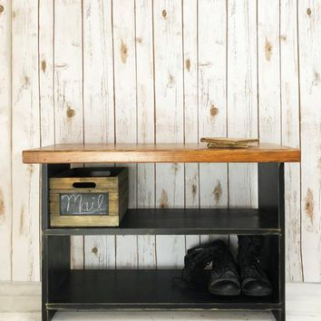 The Braddock Solid Wood, Handmade Entryway Bench