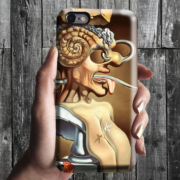 Portrait of Pablo Picasso Salvador Dali iPhone Case 6, 6S, 6 Plus, 4S, 5S. Phone Cell. Art Painting. Gift Idea Anniversary. Gift for him/her