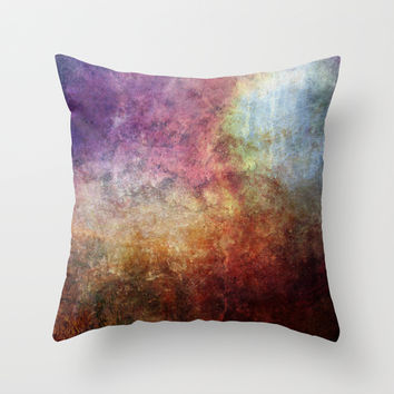 Glory Oil Abstract Painting Throw Pillow by Jbjart | Society6