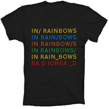 New Mens Rock Band RadioHead In RainBows T Shirt Custom Personalized Short Sleeve Summer Top Design Cotton Tee Shirt plus size
