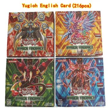 216pcs /set Yugioh Cards Kids Game Cards Toys English Version Boys Girls Yu Gi Oh Game Collection Cards Christmas Gift Brinquedo
