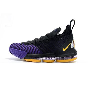 "Nike LeBron 16 Los Angeles Lakers ""Black Purple Gold"" - Best Deal Online"