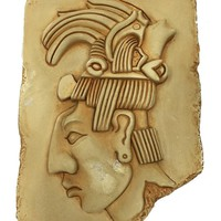 Mayan King Pacal Small Wall Relief 7.5H - AS IS  no returns attic
