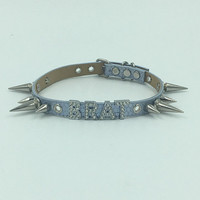 BRAT SPIKES faux leather collar