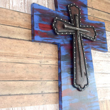 Large Wall Cross, Christian Wood Wall Art, Cross Wall Decor, Christian Decor, Wood Cross, Wood Wall Decor,  Wooden Cross, Handmade Cross