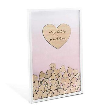 Aqueous Wedding Drop Box Guest Book with Hearts Bright Purple (Pack of 1)
