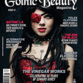 Gothic Beauty Magazine Issue 41 Music interviews with IAMX, Front Line Assembly and Jill Tracy