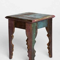 Magical Thinking Carved Leg Side Table - Multi One