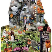 Spooky House 1000pc Shaped Jigsaw Puzzle