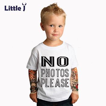Little J Spring Cartoon Hip-Hop Baby Boys T-Shirt Thorns Tattoo Long Sleeve Girls T-Shirts Children Clothes Tee Tops Sweatshirts