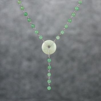 jade circle laiat necklace bridesmaids gifts Free US Shipping handmade Anni Designs