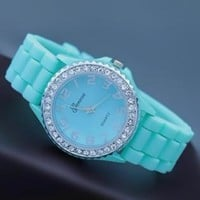Mint Color Silicone Watch CBF04