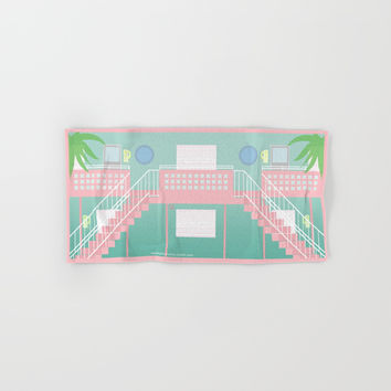 Motel Paradise Hand & Bath Towel by Claudia Duarte