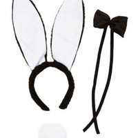 Bunny Costume Accessory Set by Charlotte Russe - Black Combo