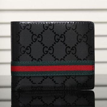 DCCK Gucci Man Leather Purse Wallet5