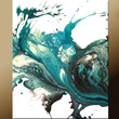 11x14 Abstract Fine Art Print - Contemporary Modern Art by Destiny Womack - dWo - Lonely Teardrops