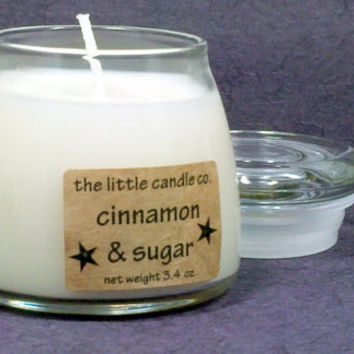 Cinnamon & Sugar Soy Candle Jar - Hand Poured and Highly Scented Container Candles