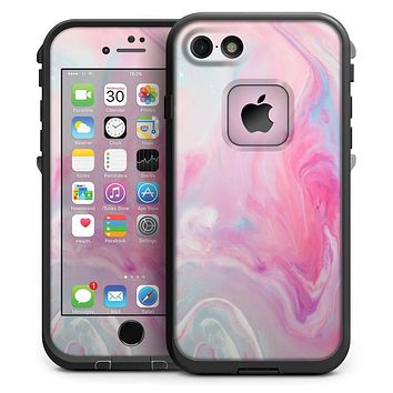Marbleized Pink Paradise V5 - iPhone 7 LifeProof Fre Case Skin Kit