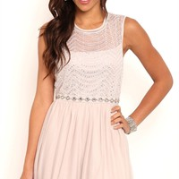 Short Homecoming Dress with Illusion Tank Bodice and Ballerina Skirt
