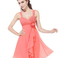 Silk Sleeveless Short Spring Watermelon Red Dress