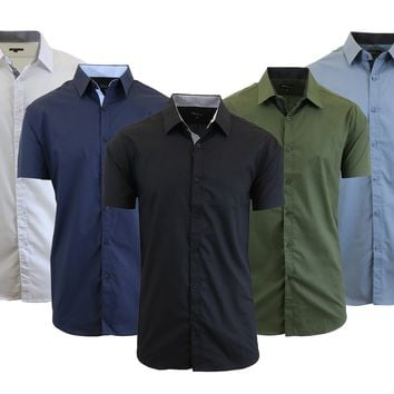 Men's Short Sleeve Button Down Dress Shirt