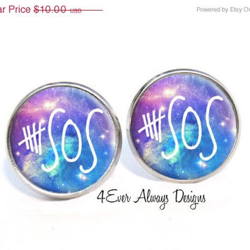 ON SALE 5 Seconds of Summer Galaxy Earrings 5SOS