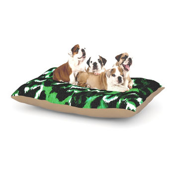 "Ebi Emporium ""Wild at Heart - Green"" Emerald Dog Bed"