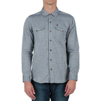 Volcom Checkmate Shirt - Long-Sleeve - Men's Vintage Navy,