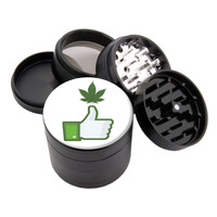 "Like Thumb Design - 2.25"" Premium Black Herb Grinder - Custom Designed"