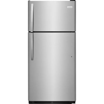 Frigidaire 18 cu. ft. Top Freezer Refrigerator in Stainless Steel-FFTR1821TS - The Home Depot