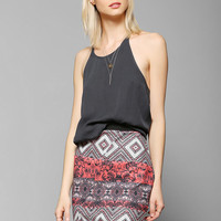 Sparkle & Fade Textured Print Mini Skirt - Urban Outfitters