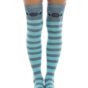 Disney Lilo & Stitch Stripe Stitch Over-The-Knee Socks