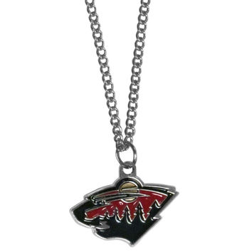 Minnesota Wild® Chain Necklace with Small Charm HN145SC