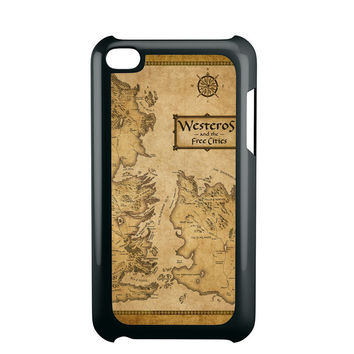 Game Of Throne Map Westeros Ipod 4 Case