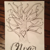Guestbook, Tree Wall Art