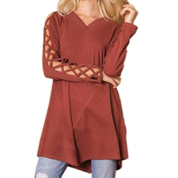 Cut It Out Tunic by Simply Noelle